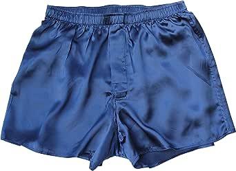 Jasmine Silk Men's Classic Silk Boxer Shorts Navy