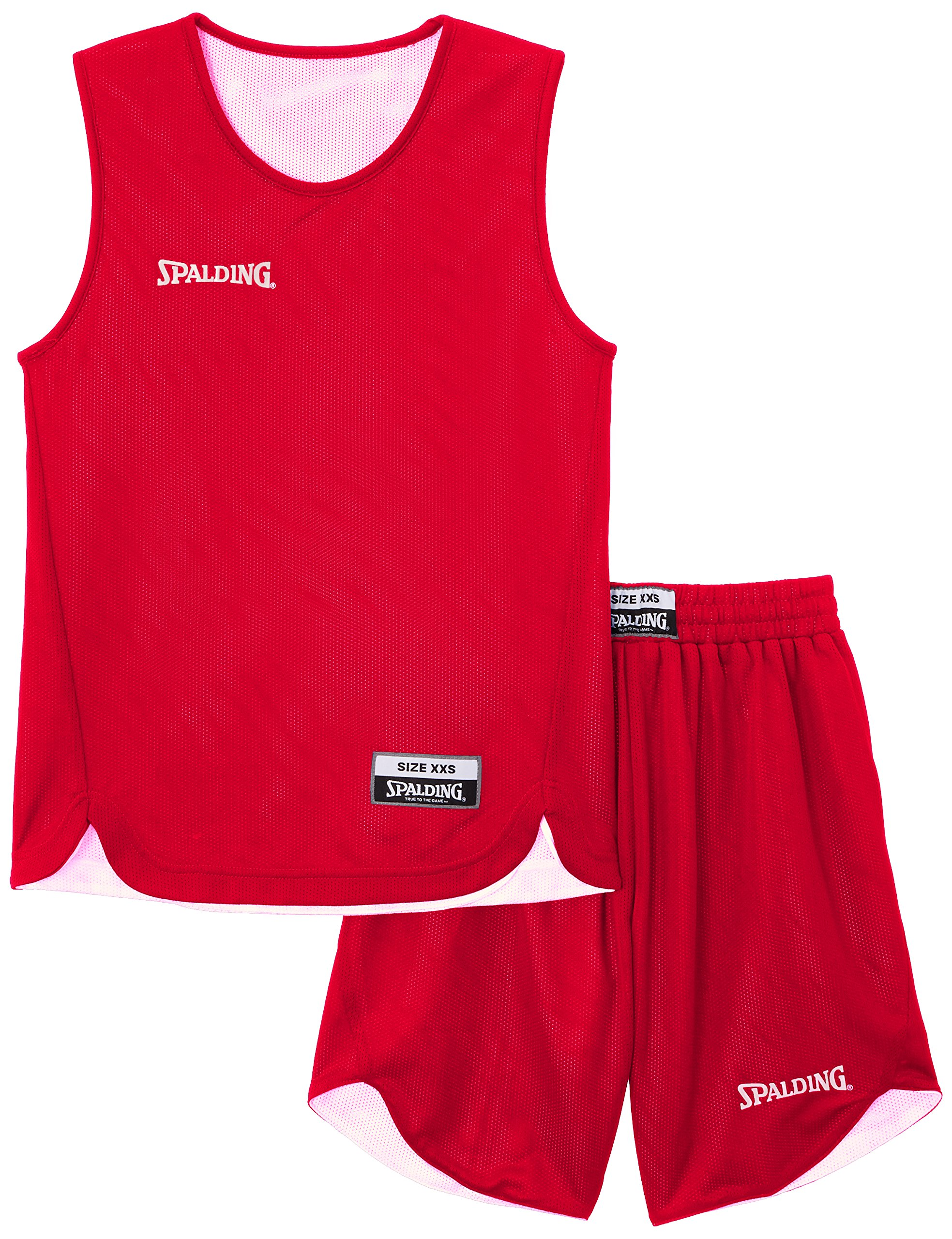 Spalding Teamsport Doubleface - Completo sportivo Unisex - bambini, Rosso (Rot/Weiß), XS/152