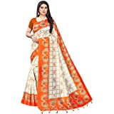 PISARA Women's Banarasi Art Silk Saree With Unstiched Blouse Piece
