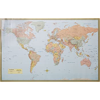 Large world map xxl poster with flags and banners top quality large world map xxl poster with flags and banners top quality 140x100 cm goods gadgets gumiabroncs Choice Image