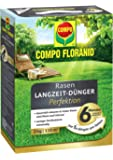 COMPO FLORANID Rasen-Langzeitdünger Perfektion, 6 Monate Langzeitwirkung, Feingranulat, 5 kg, 110 m²