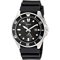 Casio, orologio da uomo in resina nera con quadrante nero, AW106-1AV