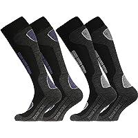 2 Pairs Men`s Ski Socks Long Hose Thermal Socks