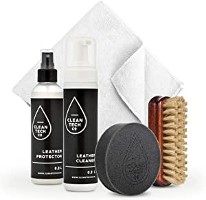 Cleantech Co Lederpflegeset Leather Care Kit 200ml 200ml Lederschutz Autoleder Uv Schutz Auto