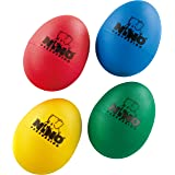 Nino Percussion NINOSET540 - Huevo de percusión, Rojo/Azul/Verde/Amarillo