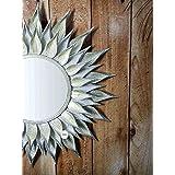GIG Handicrafts Leaf Designed Wall Mirror (74 x 74 x 4 cm)