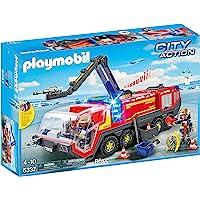 Playmobil - Pompiers avec véhicule aéroportuaire - 5337