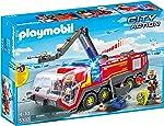 Playmobil 5337–Flughafenloeschfahrzeug, ışık ve ses