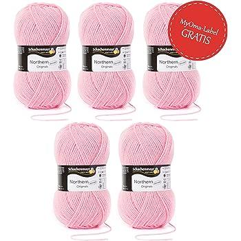 5er Pack Uni Wolle Rosa 100 Polyacryl Wolle 250g Garn Zum Stricken