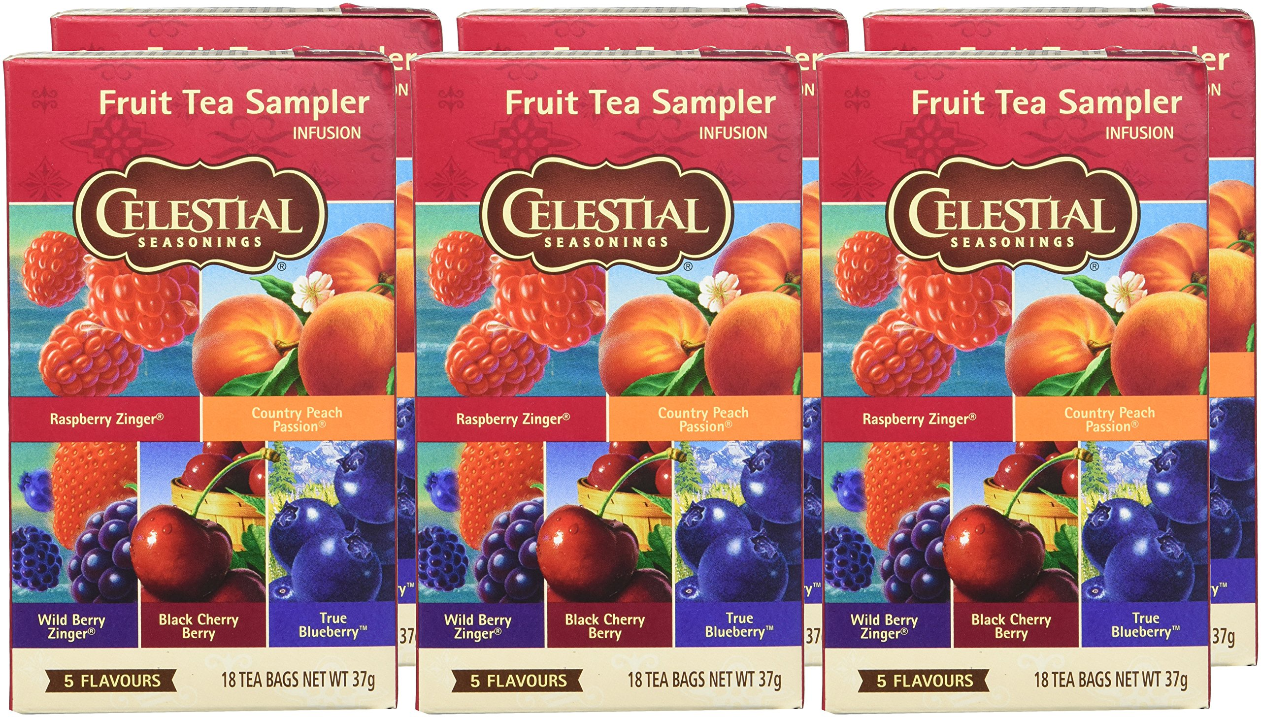 Celestial-Seasonings-Fruit-Tea-sampler-South-6er-Pack-6-x-37-g