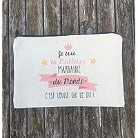 Pochette/grande Trousse personnalisable Pour Marraine, Maman, Mamie, Tata, Maitresse, Atsem, Avs. Idéal en cadeau !