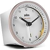 Klassisk analog trådlös väckarklocka från Braun för den melleruropeiska tidszonen (MEZ/GMT+1) med snooze-funktion och belysni