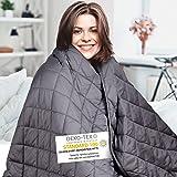 Wellax gewichtsdeken – therapiedeken – 7,2kg,152x203cm – Weighted Blanket – 100% katoen – voor stressafbouw & angst – Met zak