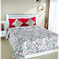 Amazon Brand - Solimo 100% Cotton Printed Comforter, Double (Fresh Ferns, 200GSM)