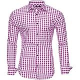 Kayhan Camisas Hombres Camisa Hombre Manga Larga Ropa Camisas de Vestir Slim fácil de Hierro Fit S M L XL XXL-6X - Modello Ok
