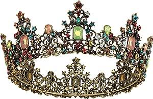 Makone Tiara Corona di Cristallo Pettine per la Cerimonia Nuziale Corona Prom Dresses Pageants Princess Parties Birthday