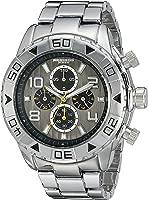 ساعة اكريبوس XXIV رمادية للرجال بسوار من الستانلس ستيل - AK814SSB