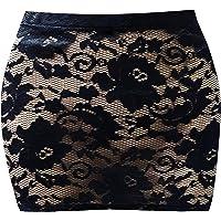 Style Plus Women See Through LACE Micro Mini Skirt Size 6 to 24