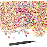 YapitHome 3000 Pcs Mini 3D Fruit Slices, Fruit Fimo Clay for Nail Art, Nail Fruit Slices With Tweezers, for Nail Art…