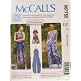 McCall's Learn to Sew Womens Playsuit and Jumpsuits   XS-M Sewing Pattern M7755
