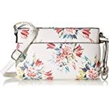 Gabor bags Umhängetasche Damen Flores, Weiß (Blumenmuster), S, Rucksackhandtasche, Tasche Damen