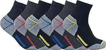 Sock Snob -  Calzini - Uomo Nero 6 Pairs (Short)