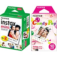 Fujifilm Instax Mini Picture Format Film (20 Shots) and Fujifilm Instax Mini Candy Pop Film (Multicolor, Pack of 10)