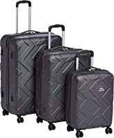 Kamiliant by American Tourister Onyx Hardside Spinner Luggage Set of 3, with Number Lock - Black