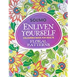 Amazon Brand - Solimo Enliven Yourself Colouring Book for Adults - Floral Patterns