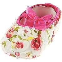 Glamour Girlz Baby Girls Soft Soled English Rosebud Rose Flower Delicate Summer Sandals