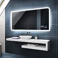 FORAM Moderne Miroir avec LED Illumination Salle de Bain avec Accessoires - sur Mesure - LED Lumineux Miroir avec…