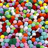 Pompons Artisanat élastique mini pompons décorations boules pour fournitures de loisirs 1cm assortis de couleur pour les enfa