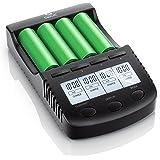 CSL - Power Akku Ladegerät | Universale Akku Ladestation/Intelligent Battery Charger | | beleuchtetes LCD-Display + Auto Light Off | inkl. 1x USB-Ladeport | Batterie-Verpolungsschutz