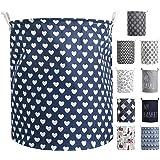 Devlop Panier à linge en tissu pliable avec grande capacité pour couettes, oreillers, draps, couvertures et vêtements 【étanch