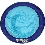SwimWays Spring Float Papasan - Mesh Float for Pool or Lake - Dark Blue/Light Blue