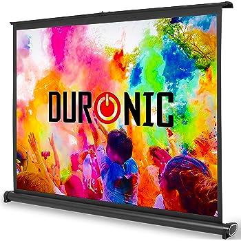 """Duronic DPS40 /43 Schermo di proiezione 40"""" formato 4:3/86 X 61 cm Telo da scrivania telo proiettore da tavolo telo da proiezione per interni/esterni Full HD 3D 4K - Home cinema home theater ufficio"""