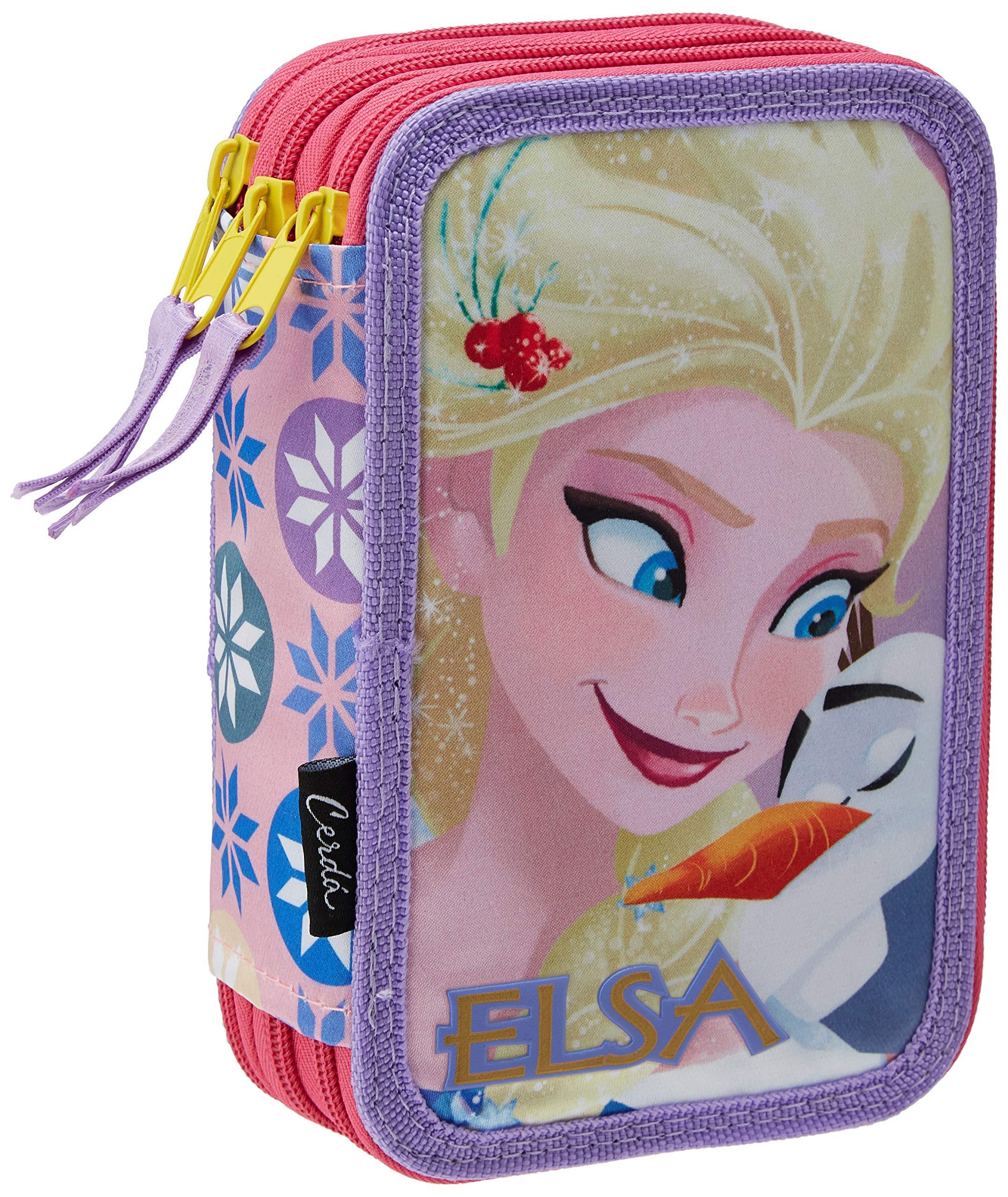 Disney-2700000226 Frozen Plumier, Multicolor, 19 cm (Artesanía Cerdá CD-27-0226)