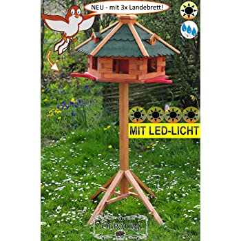 Vogelhaus Vogelhäuser mit Solarbeleuchtung Typ 24 auch mit Ständer