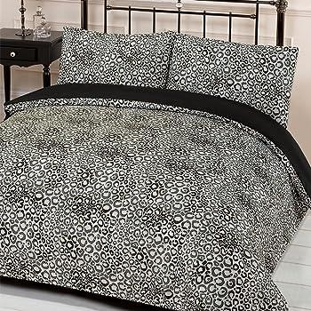 Dreamscene Reversible Duvet Cover with Pillow Case Bedding Set Jengo Leopard  Print f6c93d506