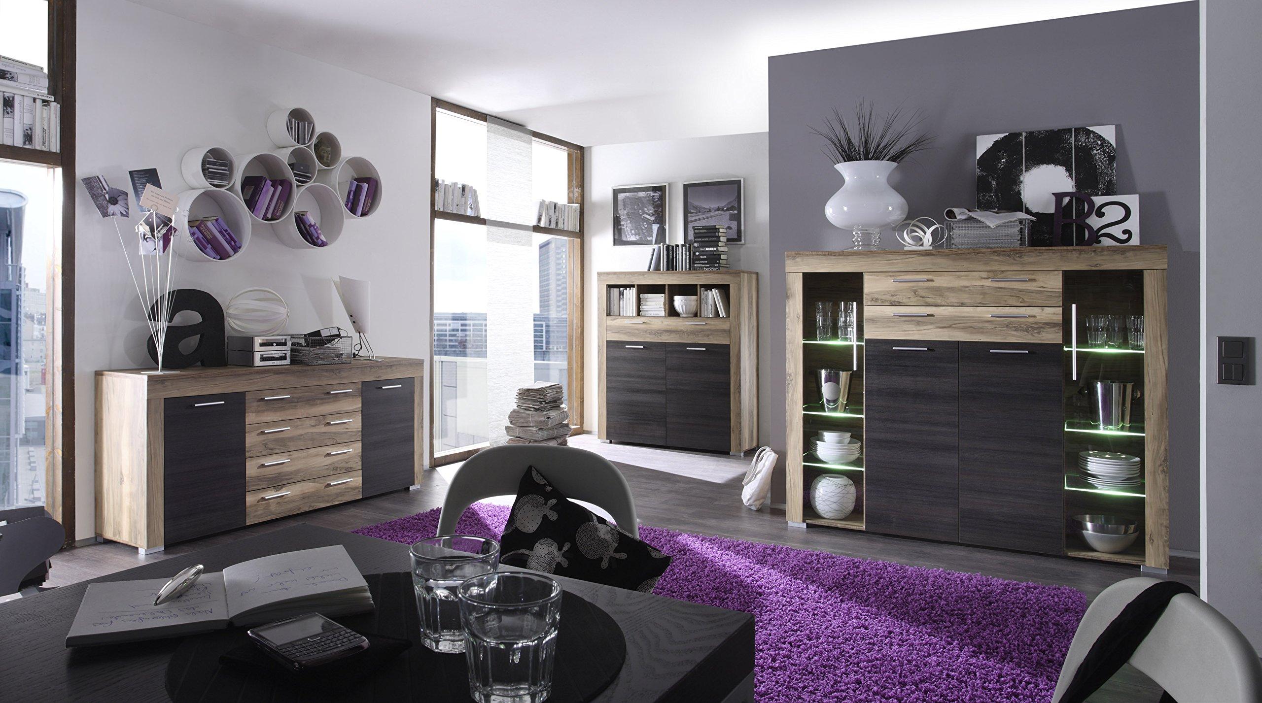 Credenza Moderna Marrone : Credenza moderna azalea vetrina bianca o rovere mobile soggiorno