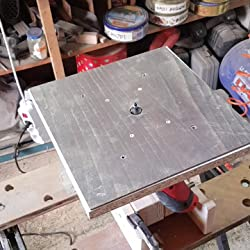 ALU Fixation Plaque retour plaque pour frästisch Einhell TC-RO 1155e Défonceuse