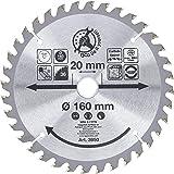 Kraftmann 3950   karbidtippade cirkulära sågblad   Ø 160 x 20 x 2,4 mm   36 tänder