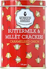Monsoon Harvest Buttermilk and Millet Crisp Baked Crackers, Caramelised Onion, 100g