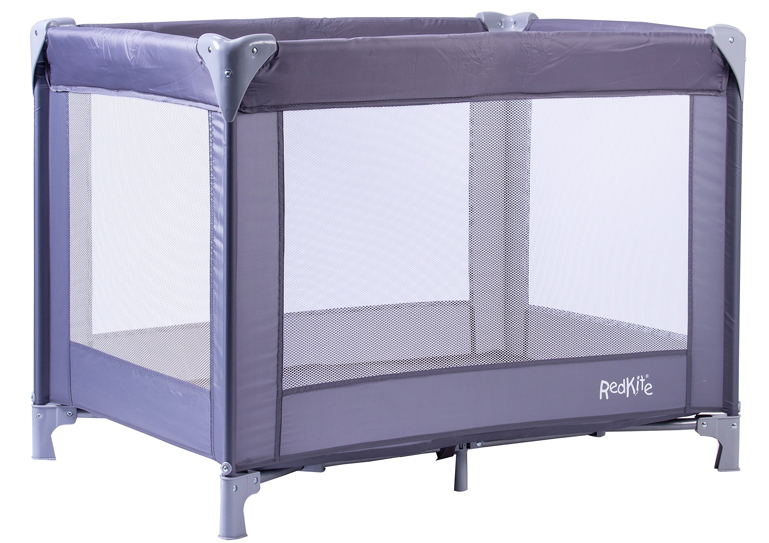 Red Kite Sleeptight Travel Cot (Grey) Red Kite Suitable from birth Easy and fast to assemble Padded mattress for a comfy nights sleep 1