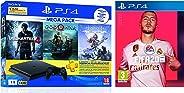 Sony PS4 1 TB Slim Console (Free Games: God of War/Uncharted 4/Horizon Zero Dawn) + FIFA 20(PlayStation 4)