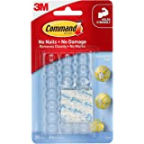 Command - 17026CLR Decorating & Organizing Clips (Clear,20 Clips and 24 Mini Strips)