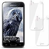 moex 2X Samsung Galaxy S5 Mini | Schutzfolie Klar Display Schutz [Crystal-Clear] Screen Protector Bildschirm Handy-Folie Dünn Displayschutz-Folie für Samsung Galaxy S5 Mini Displayfolie