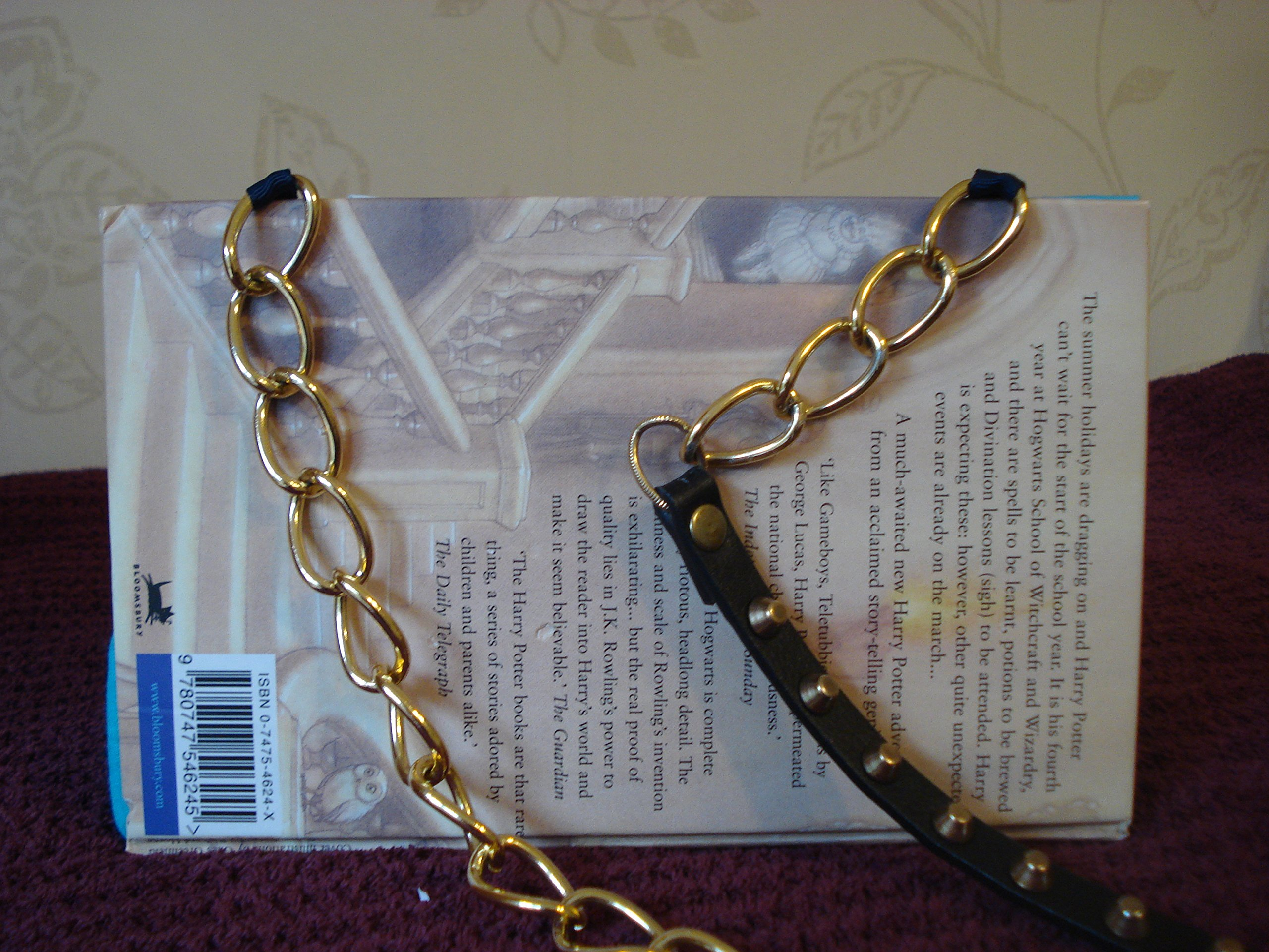 Bag Made Out Of A New Harry Potter Book, With a Shoulder Chain, Great Christmas Gift - handmade-bags