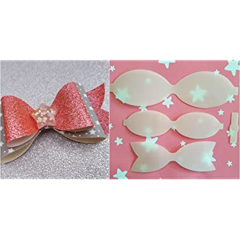 Plastic Hair Bow Template Size 3 Make Your Own Glitter Leather Bows