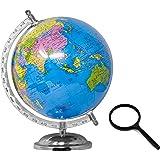 Globe for Kids, STEM STEAM Educational World Globe with 75mm Magnifying Glass for Kids/Office Globe/Political Globe…